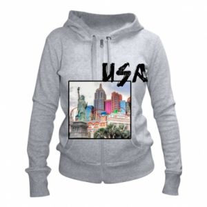 Women's zip up hoodies USA