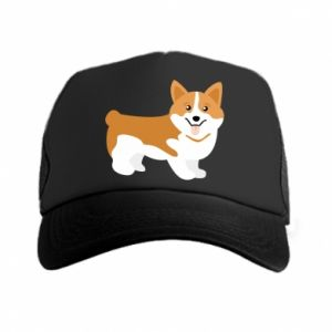 Trucker hat Corgi smile