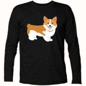 Long Sleeve T-shirt Corgi smile