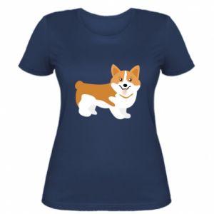 Women's t-shirt Corgi smile