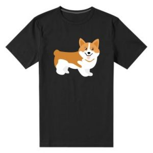 Men's premium t-shirt Corgi smile