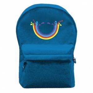 Plecak z przednią kieszenią Uśmiechnięta tęcza