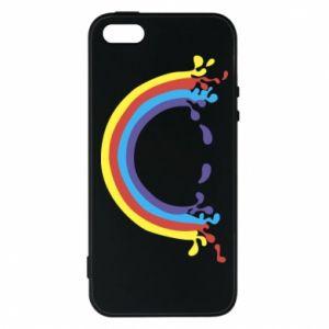 Etui na iPhone 5/5S/SE Uśmiechnięta tęcza