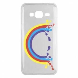 Etui na Samsung J3 2016 Uśmiechnięta tęcza