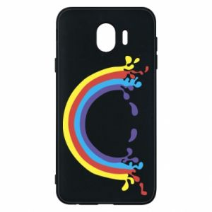 Phone case for Samsung J4 Smiling rainbow