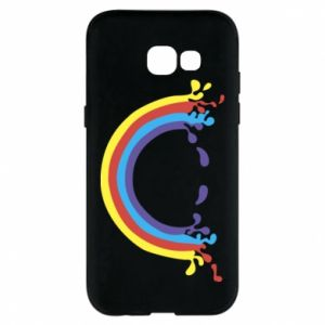 Phone case for Samsung A5 2017 Smiling rainbow
