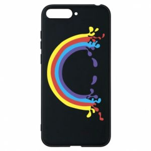 Phone case for Huawei Y6 2018 Smiling rainbow