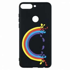 Phone case for Huawei Y7 Prime 2018 Smiling rainbow