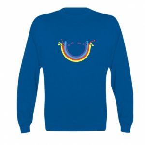 Kid's sweatshirt Smiling rainbow
