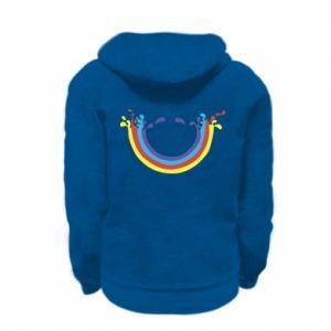 Kid's zipped hoodie % print% Smiling rainbow