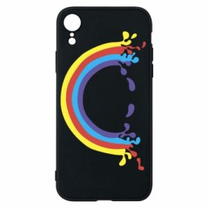 Phone case for iPhone XR Smiling rainbow
