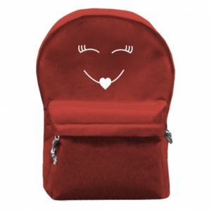 Backpack with front pocket Smiling face