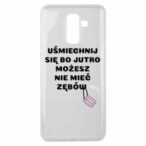 Etui na Samsung J8 2018 Uśmiechnij się bo...