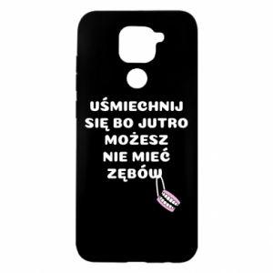 Etui na Xiaomi Redmi Note 9/Redmi 10X Uśmiechnij się bo...