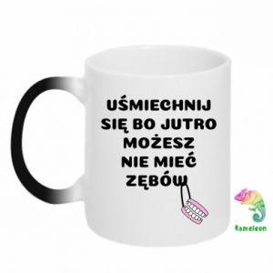 Chameleon mugs Smile because you can... - PrintSalon