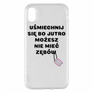 Phone case for iPhone X/Xs Smile because you can... - PrintSalon