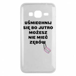 Etui na Samsung J3 2016 Uśmiechnij się bo...