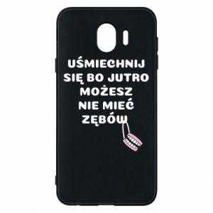 Etui na Samsung J4 Uśmiechnij się bo...