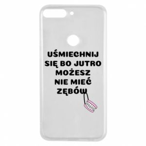 Phone case for Huawei Y7 Prime 2018 Smile because you can... - PrintSalon