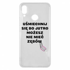 Phone case for Huawei P Smart Plus Smile because you can... - PrintSalon