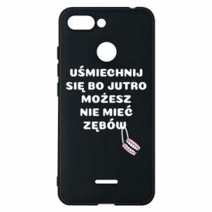 Phone case for Xiaomi Redmi 6 Smile because you can... - PrintSalon