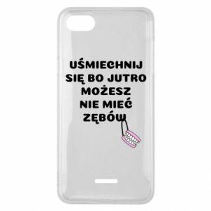 Phone case for Xiaomi Redmi 6A Smile because you can... - PrintSalon