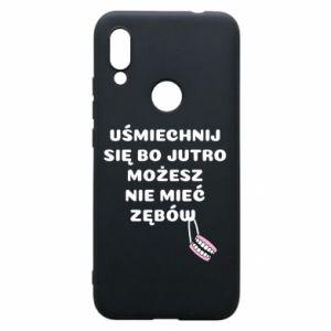 Phone case for Xiaomi Redmi 7 Smile because you can... - PrintSalon