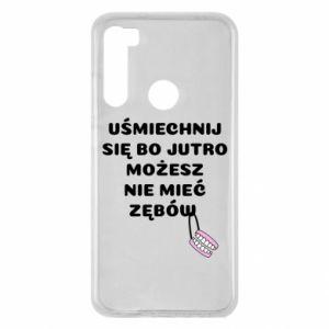 Etui na Xiaomi Redmi Note 8 Uśmiechnij się bo...