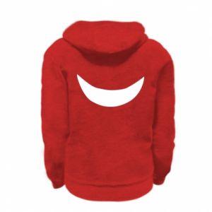 Kid's zipped hoodie % print% Smile