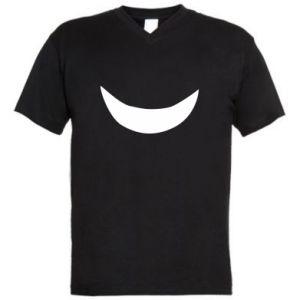 Męska koszulka V-neck Uśmiechnij się