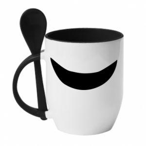 Kubek z ceramiczną łyżeczką Uśmiechnij się