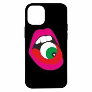 Etui na iPhone 12 Mini Usta dziewczyny z okiem
