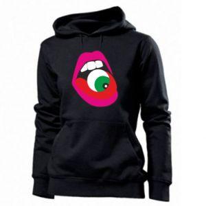 Bluza damska Usta dziewczyny z okiem