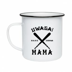 Enameled mug Attention mom