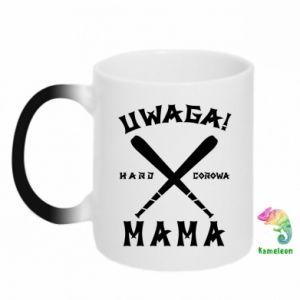 Chameleon mugs Attention mom
