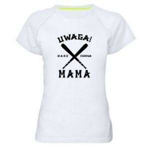 Women's sports t-shirt Attention mom