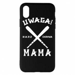 Etui na iPhone X/Xs Uwaga mama