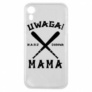 Etui na iPhone XR Uwaga mama