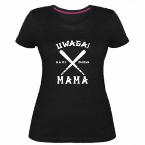 Women's premium t-shirt Attention mom
