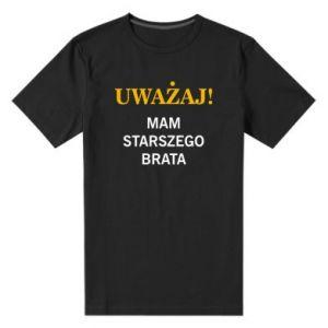Męska premium koszulka Uważaj mam starszego brata