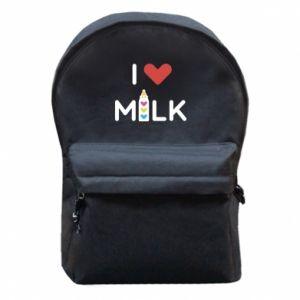 Plecak z przednią kieszenią Uwielbiam mleko