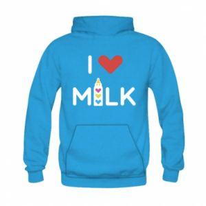 Bluza z kapturem dziecięca Uwielbiam mleko