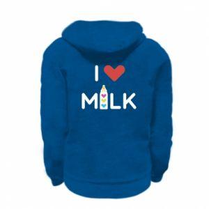Bluza na zamek dziecięca Uwielbiam mleko