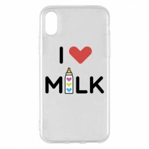 Etui na iPhone X/Xs Uwielbiam mleko