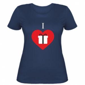 Damska koszulka I love presents