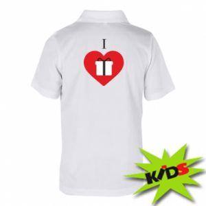 Dziecięca koszulka polo I love presents