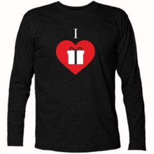 Koszulka z długim rękawem I love presents