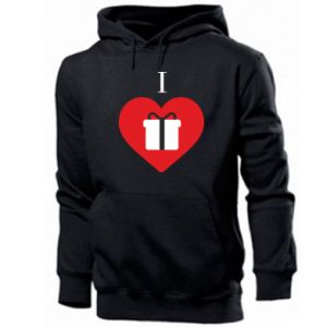 Men's hoodie I love presents