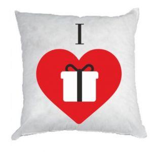Pillow I love presents