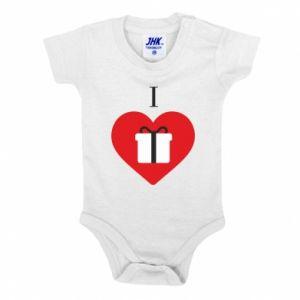 Baby bodysuit I love presents